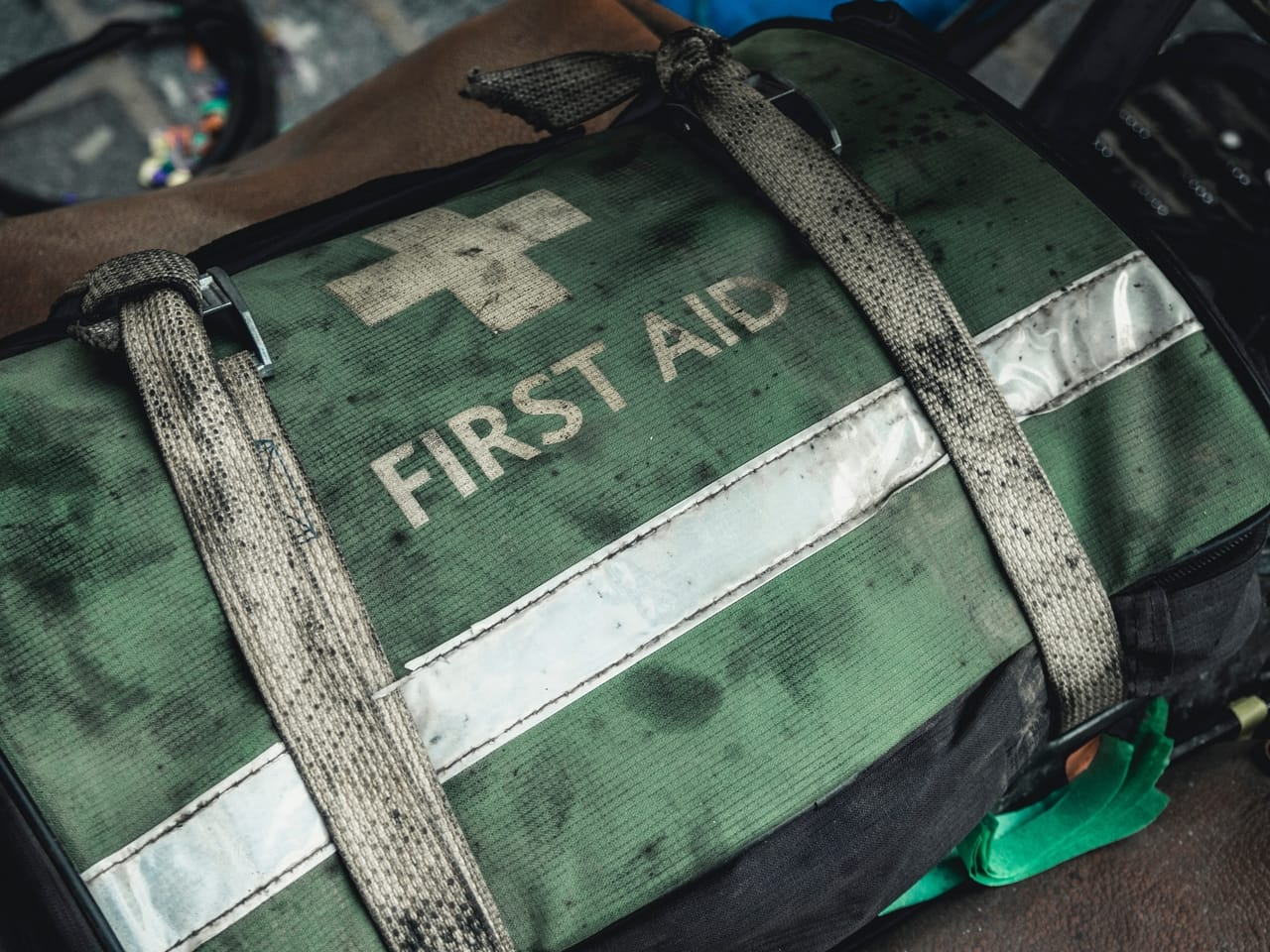 green-dirty-first-aid-kit